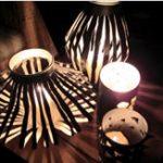 Luminárias com material reciclável